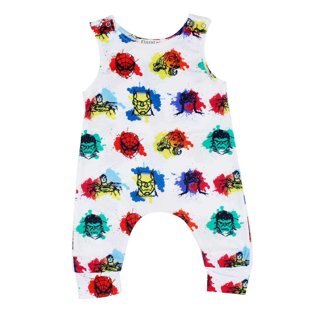 2018 Captain Printed Baby Romper Girl Clothes Tiny Cottons Summer Sleeveless Newborn Boy Clothing Baby Onesie Outfit Playsuit
