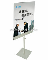 Stainless steel Table Poster Stand Poster Banner Billboard Display Stand Tabletop Display Free Shipping