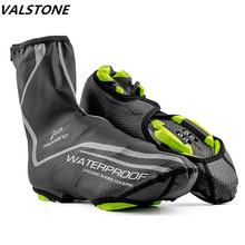 Waterproof Cycling Shoe Cover Reflective Full Zip MTB Road Bike Overshoes Outdoor Sports Riding Sneakers Pro Warm Shoes Cover