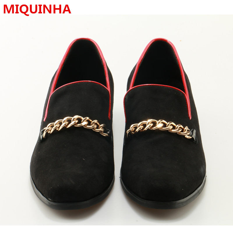 Hot 2017 Shoes Man Gloden Chain Loafers Casual Flats Men Boat Shoes Designer Suede Smoking Slippers Plus Size Men Casual Shoes цены онлайн