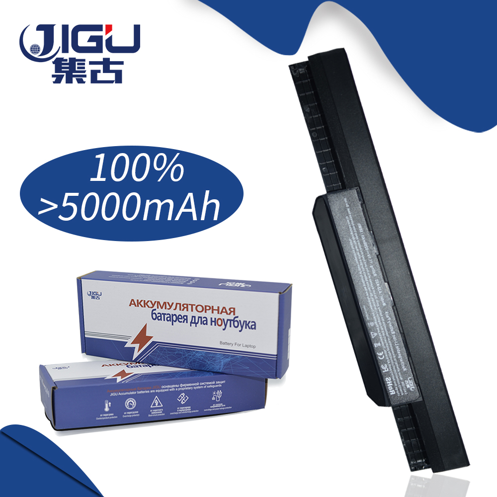 JIGU 5200MAH Laptop Battery For Asus A43E A43S K43E K43S X43E X43S X43E A43T K43T K43U A53E A53S K53E K53S K53T X43U K53U new laptop for asus a53t k53u k53b x53u k53t k53t k53 x53b k53ta k53z top lcd plamrst cover bottom cover hinges speaker jack
