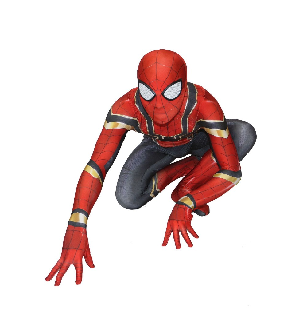 Spiderman Costume Spiderman Homecoming Cosplay Tom Holland Fer Spider Man Costume Halloween Party Cadeau Favorise Gros 2018