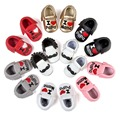 Me encanta papá y mamá Bebé mocasines de cuero muchachos de las muchachas zapatos caliente moccs zapatos Inferiores Suaves Borlas de La Manera de Los Bebés Recién Nacidos zapatos
