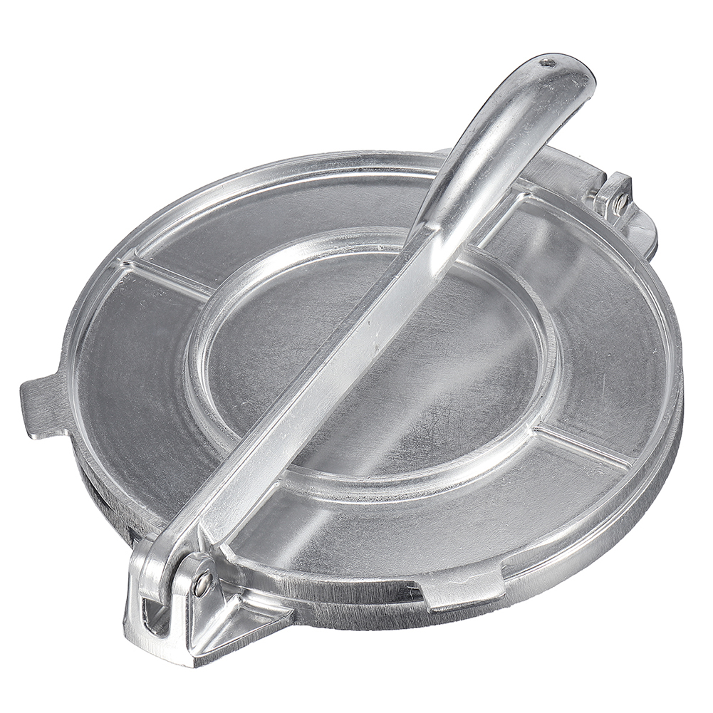 Pie Tools Foldable Tortilla Maker Press Heavy Duty Aluminium Meat Press Gadgets Bakeware Tools Silver Kitchen Accessories image