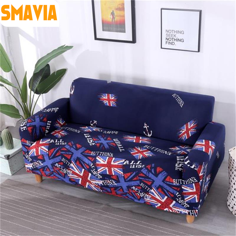 SMAVIA 1PC Elastic Sofa Cover Tight Wrap All-inclusive Slip-resistant Couch Cover Elastic Sofa Towel Single/Two/Three/Four-seat