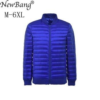 NewBang Plus  6XL 5XL Men Down Jacket Ultra Light Down Jacket Men Windbreaker Feather Parka Man Winter Large Size Outwear