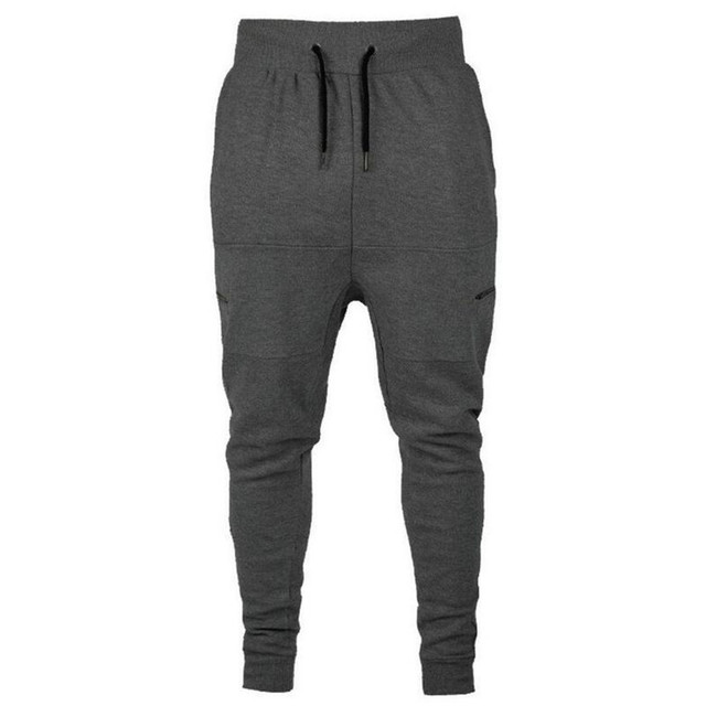 FeiTong Sweatpants for Men Casual Autumn Cotton Patchwork Zipper Sports Run Gym Jogger Pants Trousers Military Pants