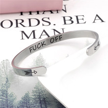 Wide 6mm Cuff Trendy Inspirational With Arrow Keep Going Bracelets Titanium Encouragement Bangle For Men Women Jewelry