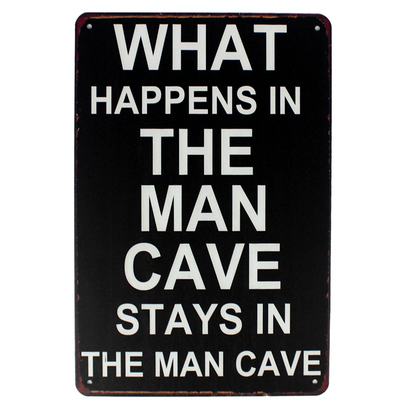 [ Mike86 ] WHAT HAPPENS IN THE MAN CAVE STAYS IN THE MAN CAVE Mural Painting Store Vintage Posters Wall art Decor AA-1005