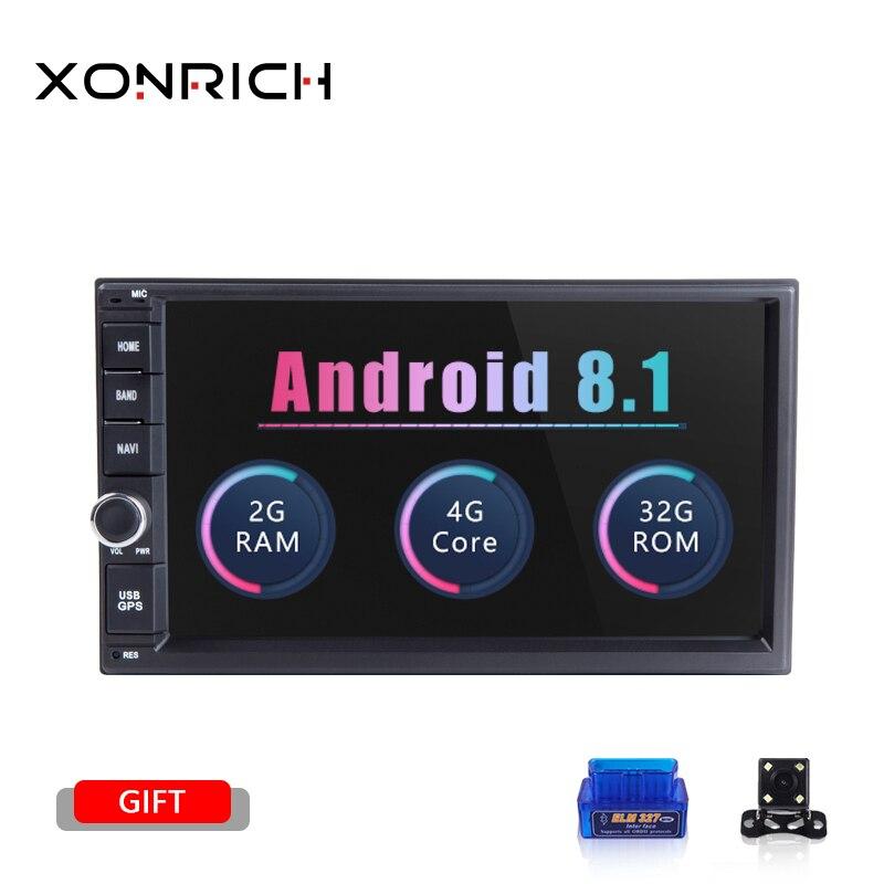 AutoRadio 2 din Android 8.1 Unidade de Cabeça Do Carro Para Nissan Xtrail Qashqai Almera Nota Multimídia Navegação GPS Gravador de Fita De Áudio 4G