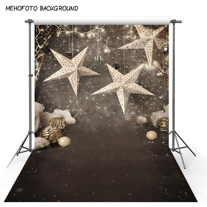 Snowflake Christmas Star Zdjęcia Tła 5x7ft Fotografia Backdrops