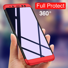 купить 3 in 1 Phone Case For Samsung Galaxy A8 2018 A530F Case 360 Full Protective Hard PC Armor Back Cover For Samsung A8 Plus Case по цене 209.07 рублей