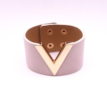 Fashion Leather V word Bracelet