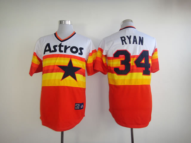 info for de7f8 67c4d US $29.99 |Houston Astros #34 Nolan Ryan jersey, Houston Astros 34 Nolan  Ryan jersey Authentic Rainbow Throwback Baseball stitched jersey-in  Baseball ...