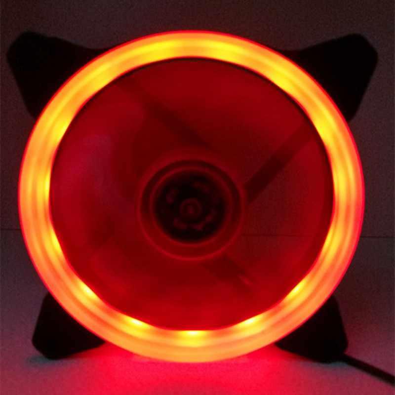 الكمبيوتر 120 مللي متر LED مروحة 120 مللي متر مروحة حلقة دليل ضوء الأزرق الأحمر الأخضر تعزيز