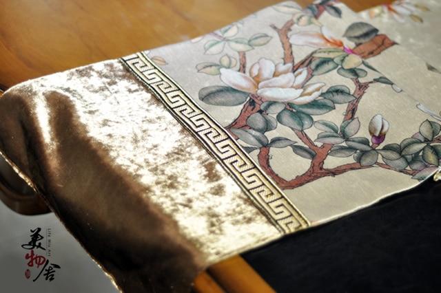 Νέο τραπεζομάντιλο Χειροποίητη Ευρώπη Style Γάμος Πίνακας Runner Πάνελ Παραδοσιακό Magnolia Κέντημα Δωμάτιο Αρχική Ξενοδοχείο Διακόσμηση Βίλα