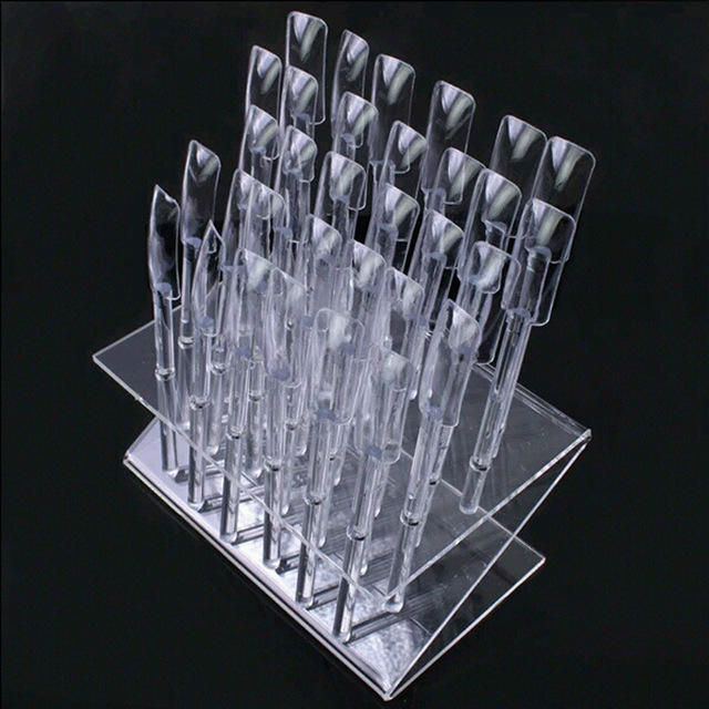 Professional 32 Stick Nail Art Clear Large Display Stand Spiral Display Shelf Practice Tools For Solon Nails Polish Gel Show