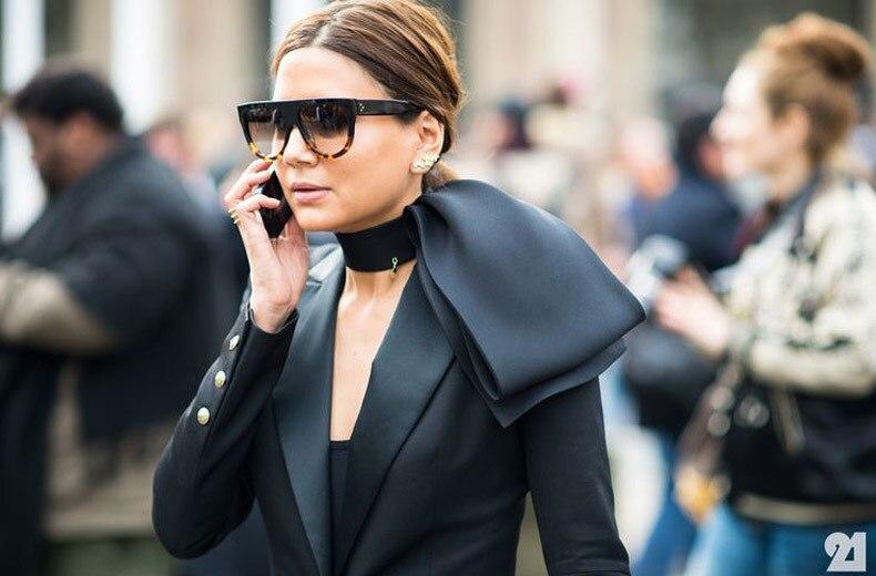 Fashion Sunglasses Women Brand Design Gradient Sun Glasses Female Rivet Shades Flat Oversize Shades Sunglass UV400 M100 5
