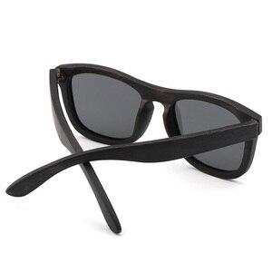 Image 4 - Retro uomini donne occhiali da sole polarizzati Nero Per Bambini in legno Coppie occhiali da sole fatti a mano UV400 Con scatola di legno di bambù