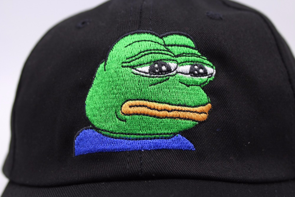 New Black Sad Frog Pepe Feels Bad Man Snapback Baseball Cap Feels Good Man  Meme Sad Frog Hats Curve Trucker Hat Casquette On Aliexpress.com | Alibaba  Group
