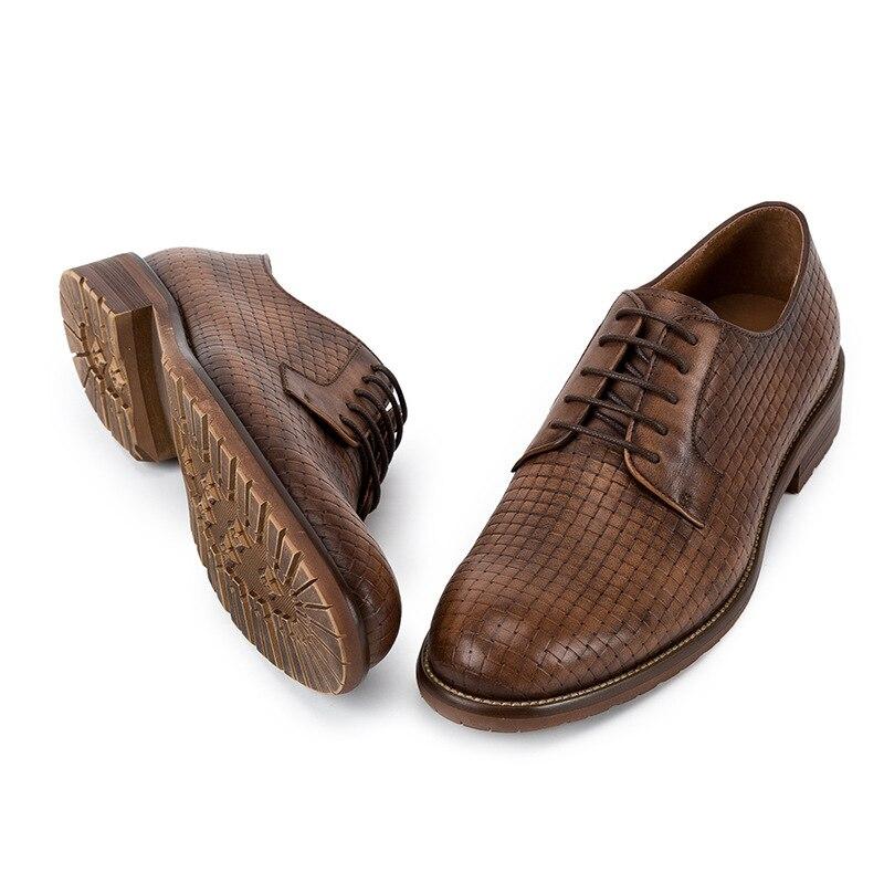 Da Sapatos Mycoron coffee Formais De Casamento Lace up Negócios Vestido Sapatas Pé Homens Dos Adulto Dedo Color Botas Novos Marca Moda Redondo Coffee Gray Do Masculino fX4qa0x