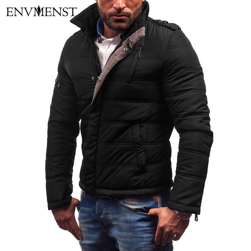 Envmenst nouveau Style épais Parka veste hommes décontractée col montant Slim Fit hiver vestes mode chaud Zipper Parkas manteaux
