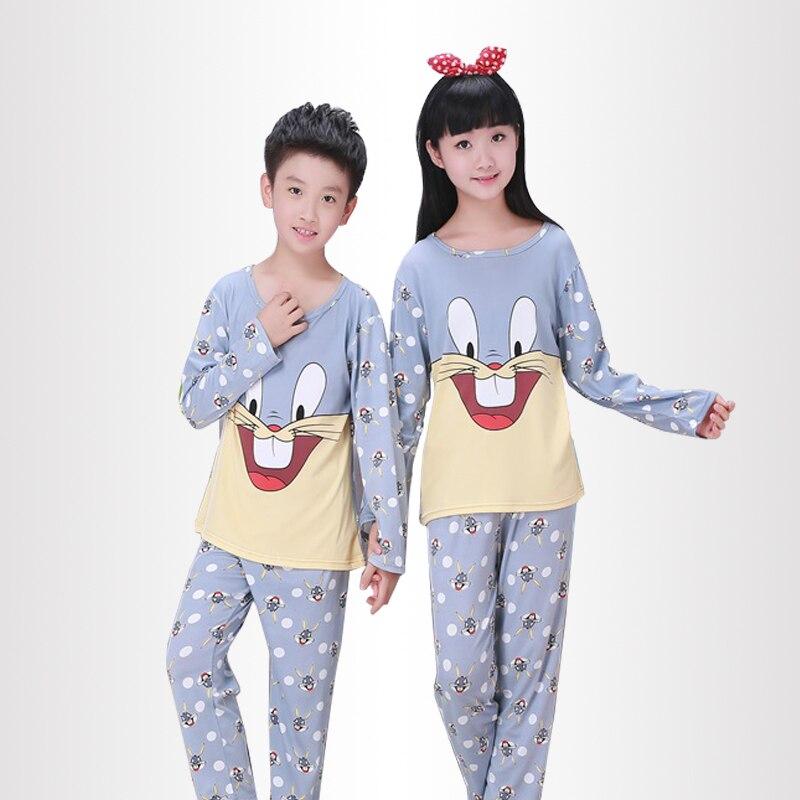 Children Pajamas New Sale 2017 Autumn&Winter Baby Sleepwears Suits Lovely Girls Pyjamas boys Cartoon Pijamas Kids Clothing set