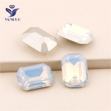 c7d3b5e02b40 YANRUO  4610 All Sizes White Opal Octagon Point Back Fancy Stones Setting  Strass Crystal Sewing Rhinestone