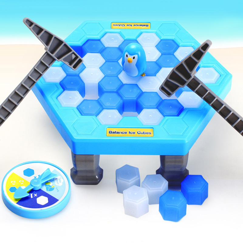 Save The Penguin Ice Breaking Great Family Funny Desktop Game Kid Toy Gifts Who Make The Penguin Fall Off will Lose This Game