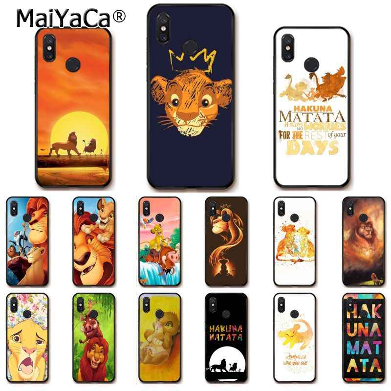 Maiyaca The Lion King Coque Shell Ponsel Case untuk Xiaomi Redmi8 4X 6A S2 7A 6A Redmi 5Plus note5 7 Note8Pro