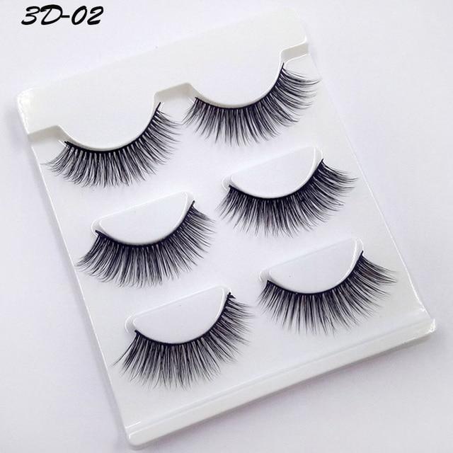 90df35ed0de New hot 3 pairs 3d natural false eyelashes fake lashes long makeup 3d mink  lashes extension eyelash mink eyelashes for beauty 30