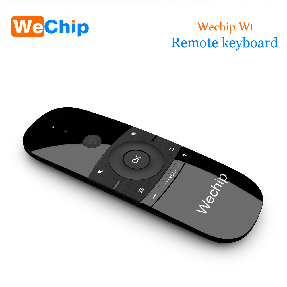 New Original Wechip W1 Keyboard Mouse Wireless 2.4G Fly Air Mouse Rechargeble Mini Remote Control For Android Tv Box/Mini Pc/Tv new arrival 2 4ghz wireless fly air mouse mini keyboard remote control with ir learning function for android tv box pc computer