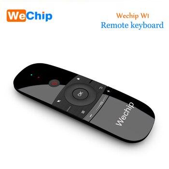 Nowy oryginalny Wechip W1 klawiatura mysz bezprzewodowy 2.4G mysz lotnicza akumulator Mini pilot zdalnego sterowania dla Android Tv Box /mini PC/Tv