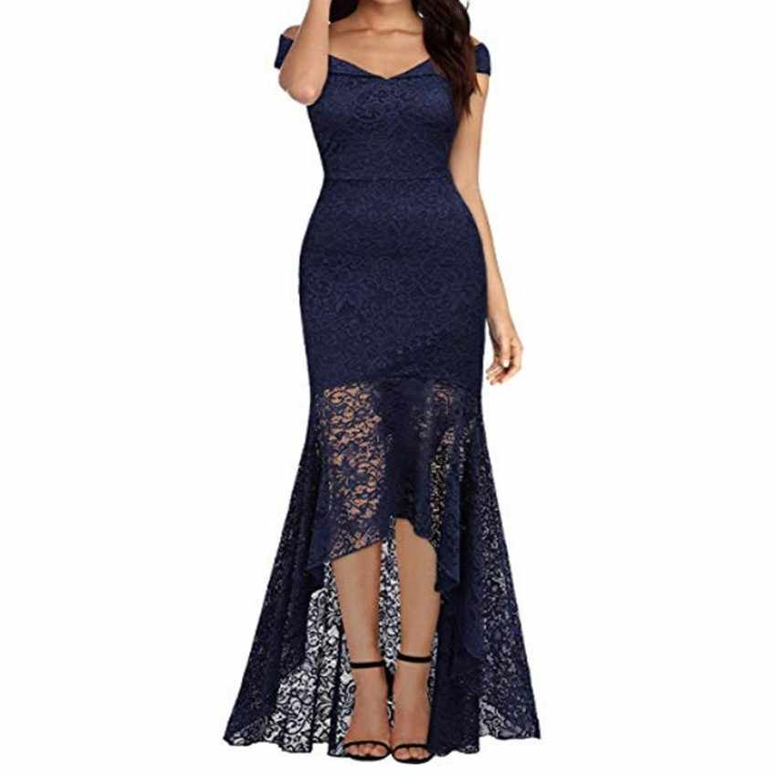 6c4cafb1cf80c Detail Feedback Questions about Women Formal Lace asymmetrical Long ...