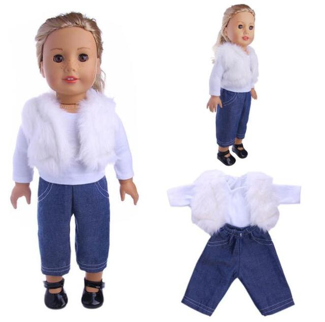 Stylish Winter Clothes For 43 cm Doll 4 pcs Set