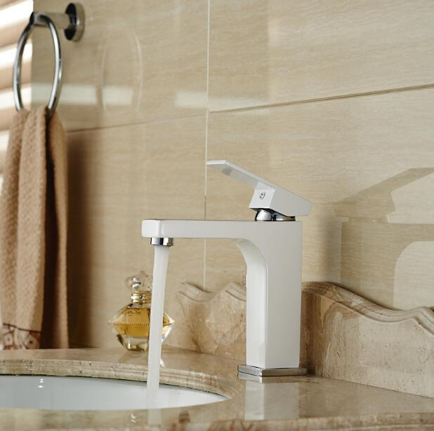 new arrival Basin faucet brass bathroom faucet luxury single lever chrome and white sink faucet basin mixer pastoralism and agriculture pennar basin india