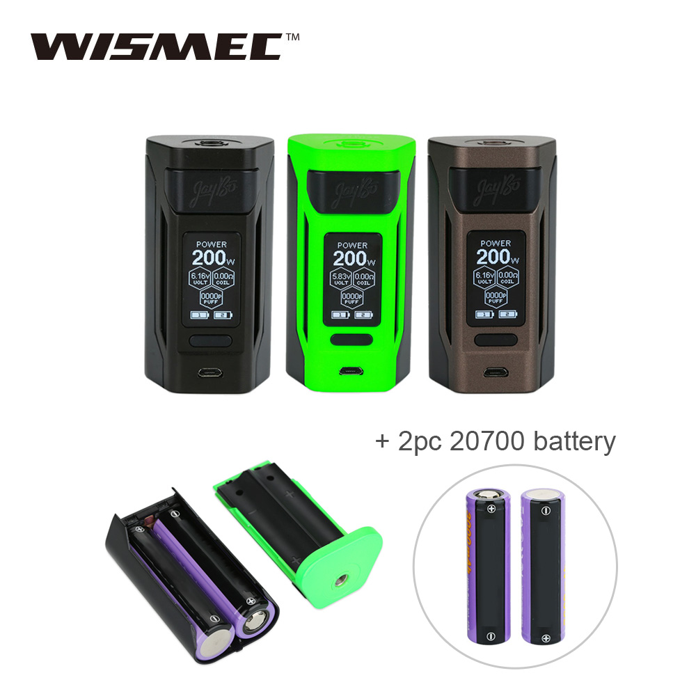 Original WISMEC Reuleaux RX2 200W TC MOD 2x 20700 Battery 6000mAh Max 200W Output Huge Power Vape Mod Vs Reuleaux RX GEN3 [usa france] original wismec reuleaux rx2 3 mod box temp control 150w 200w output electronic cigarette vape box mod
