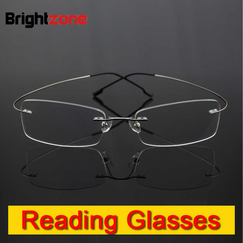 9dad399ce9 Detail Feedback Questions about Rimless memory titanium flexible eyeglasses  Reading Presbyopic glasses magnifying glasses +1.0 +1.5 +2.0 +2.5 +3.0 +3.5  +4.0 ...