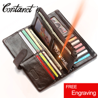 Hot Sale Vintage Wallets Men Brand Design Money Bag Genuine Leather Wallet Clutch Dollar Price Classic