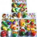 Brinquedos de Plástico de cozinha Frutas E Legumes Pretend Play Brinquedos Para A Menina Dos Miúdos Das Crianças