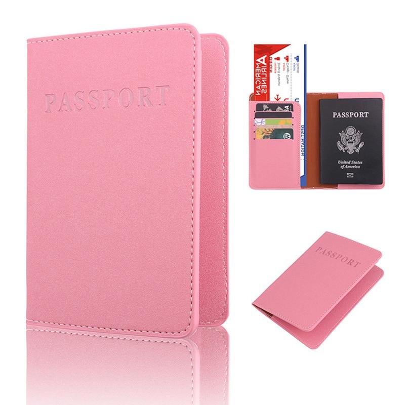 2018 NEW PU Leather Passport Holder Travel Accessories Women Passport Cover Storage Organizer Busines Credit ID Card Wallet