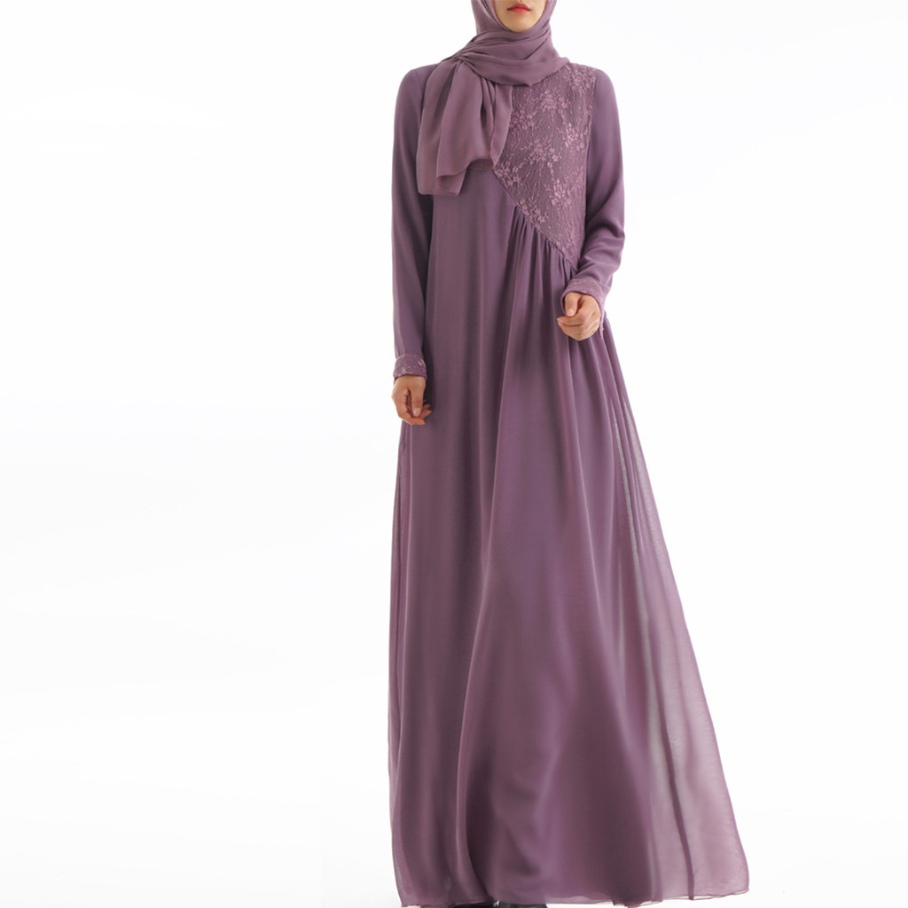 Longue robe abaya robe musulmane décontracté femmes caftan islamique Maxi robe à manches longues arabe Jilbab Abaya vêtements 4 couleurs Y619