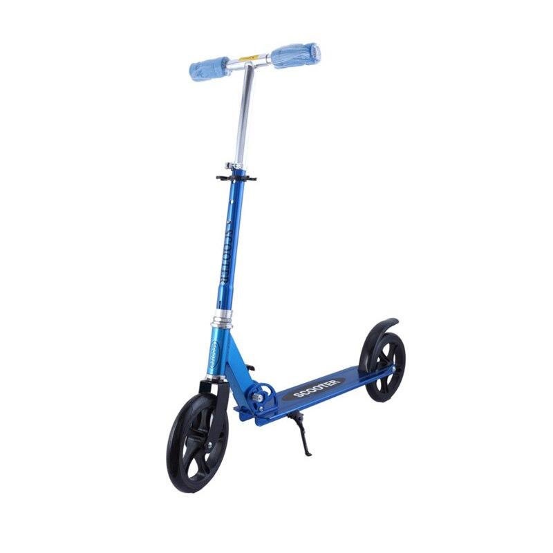 Scooters de roda 2 Adulto Kick Scooter Dobrável Portátil 2 PU rodas de freio de Mão