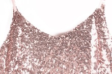 Sexy Rose Gold Sequin Ruched Dress