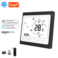 Tuya Wireless Wall Mounted Gas Boiler Thermostat EU 3A Valve radiator Linkage Controller WIFI for Dry contact &Passive contact