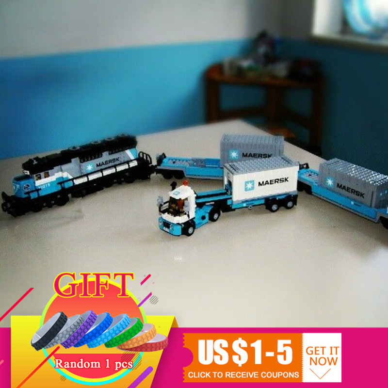 21006 1234Pcs Technical Ultimate Series The Maersk Train Set Building Blocks Educational compatible with 10219 toys lepin lepin 21006 legoing 1234pcs genuine technic ultimate series the maersk train set building blocks bricks educational toys 10219