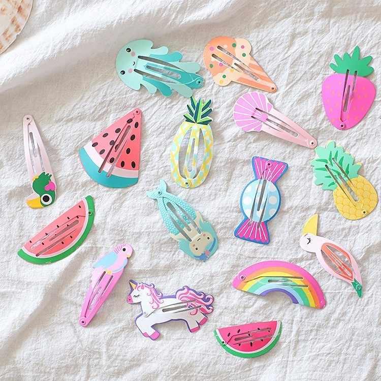 2 uds. Piña sandía fruta Birdie BB Clips horquillas niñas accesorios para el pelo de niños diadema bebé Clips tocado