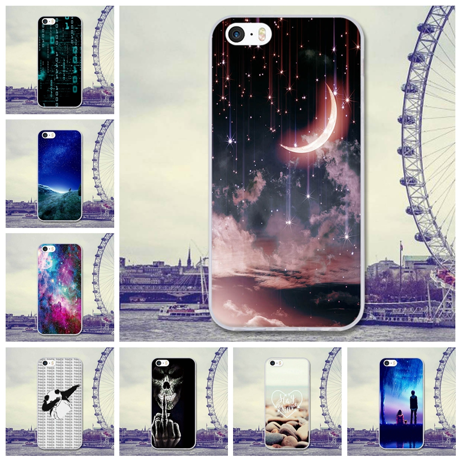 For Coque iPhone 5 5S Case Cover 4 0 Moon Cartoon Rubber TPU Silicone Case For