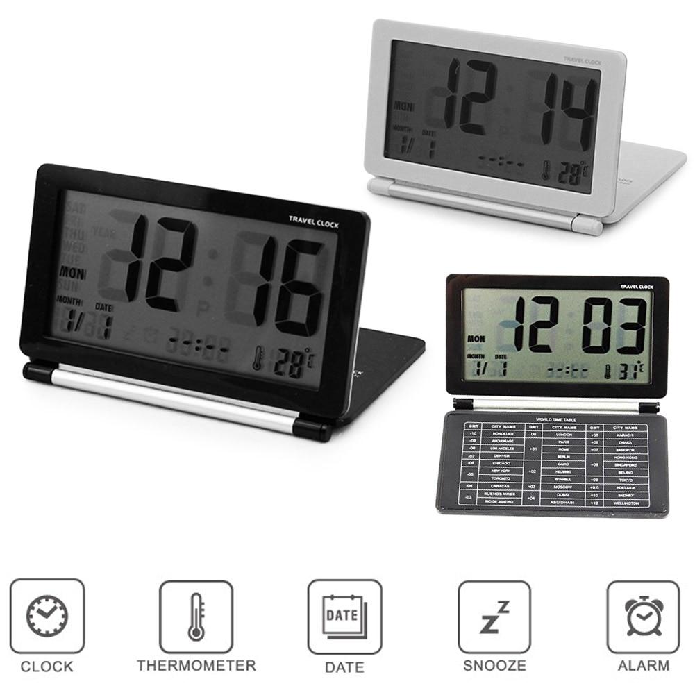 online buy wholesale modern alarm clock from china modern alarm  -  new ultra slim clamshell multifunctional travel lcd thermometer alarmclock calendar digital alarm clocks(