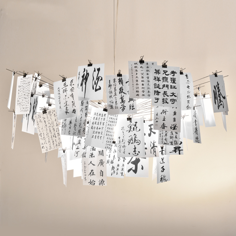 Modern Ingo Maurer Zettle Pendant Light For Dinning Room Restaurant  Zettelu0027z 5 DIY Paper Card Pendant Lamp Plafondlamp 110 240V In Pendant  Lights From ...